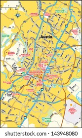 Map Of Austin Texas And Surrounding Areas.Austin Texas Map Images Stock Photos Vectors Shutterstock