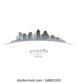 Austin Texas city skyline silhouette. Vector illustration