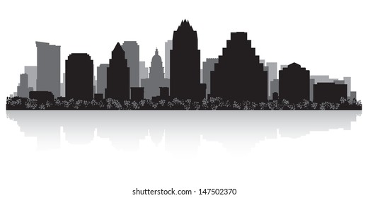 Austin USA city skyline silhouette vector illustration
