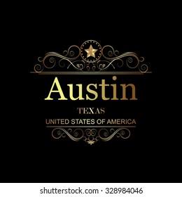 Austin,Texas.Vintage frame.