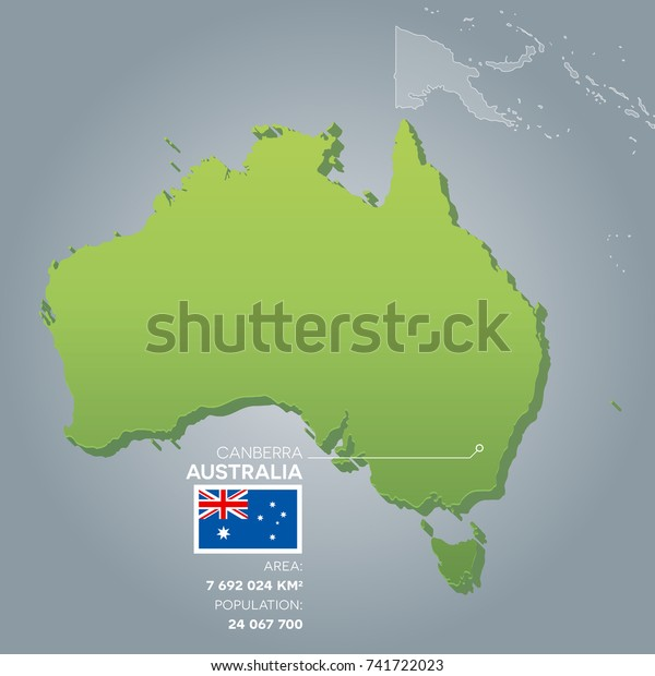 Free 3d Map Of Australia.Australia 3d Map Information Area Population Stock Vector Royalty