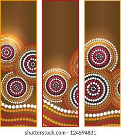 Australia Aboriginal art vector Banners