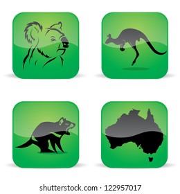 Australia animal symbols - vector illustration