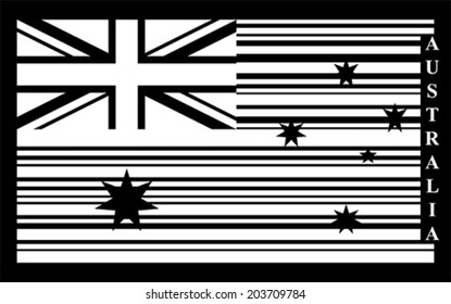 Australia barcode flag, vector