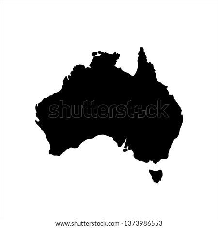 Australia Map Template.Australia Blank Map Vector Australia Map Stock Vector Royalty Free
