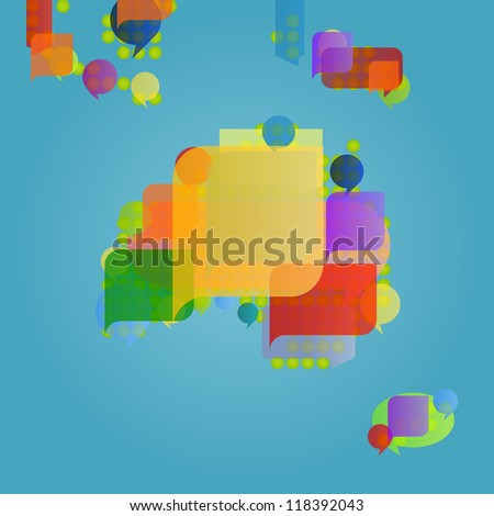 australia continent oceania map made colorful stock vector royalty