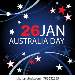 Australia Day background design with Southern Cross.