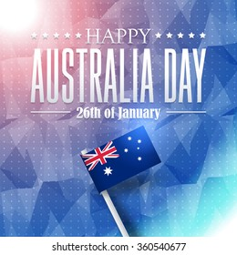 Australia Day Concept Polygonal Background on Australia Flag Design