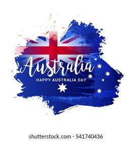 Australia day grunge flag background.