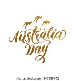 Australia day hand drawn lettering vector illustration