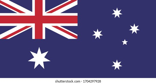 Australia flag country national travel vector