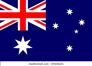 Australia flag isolated vector Proportion 2:3
