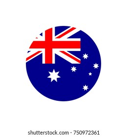 Australia flag, official colors and proportion correctly. National Australian flag. Vector illustration