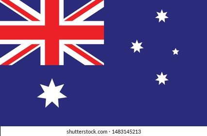 Australia flag. Simple vector. National flag of Australia