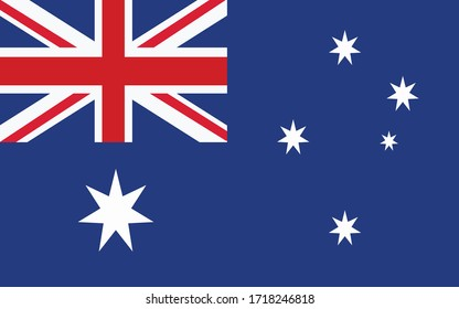 Australia flag vector graphic. Rectangle Australian flag illustration. Australia country flag is a symbol of freedom, patriotism and independence.