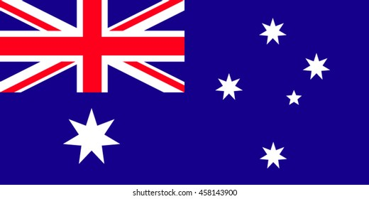 Australia flag vector illustration. Australian official colors and proportion correctly. National.