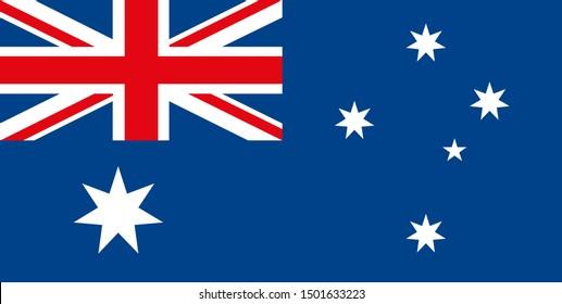 Australia Flag. Vector illustration eps 10