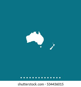 Australia high detailed vector map. New Zealand icon.