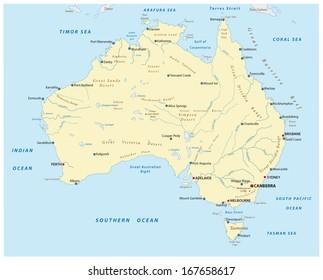 Australia Map Rivers.Australian Rivers Map Images Stock Photos Vectors Shutterstock