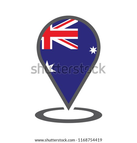 Australia Location Map.Australia Location Map Vector Illustration Stock Vector Royalty