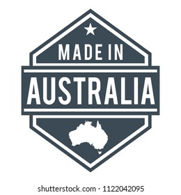 Australia Made in Product Quality Original Stamp Design Vector Art