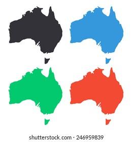 Australia Map Icon.Australia Map Icon Images Stock Photos Vectors Shutterstock