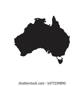 Australia map icon vector sign illustration