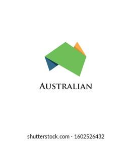 Australia Map Logo Icon Design Template Elements