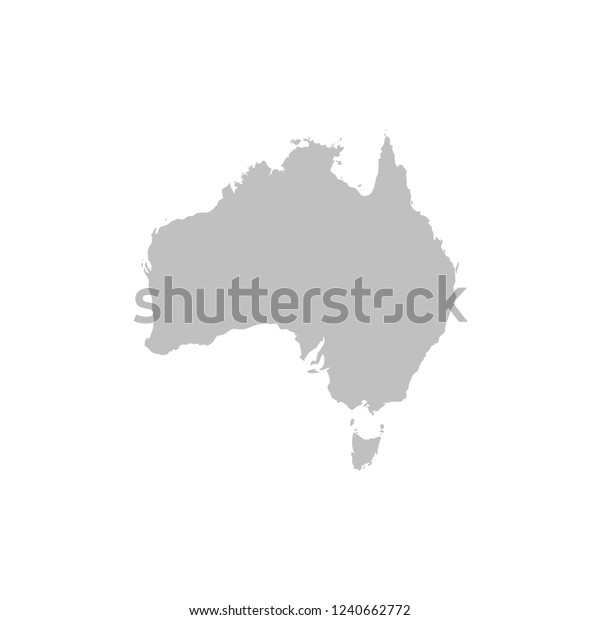 Australia Map Vector.Australia Map Vector Stock Vector Royalty Free 1240662772