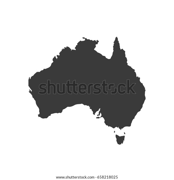 Australia Kartta Vektori Australia Kartta Arkistovektori