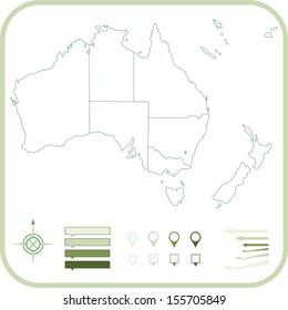 Australia Map, Vector illustration.