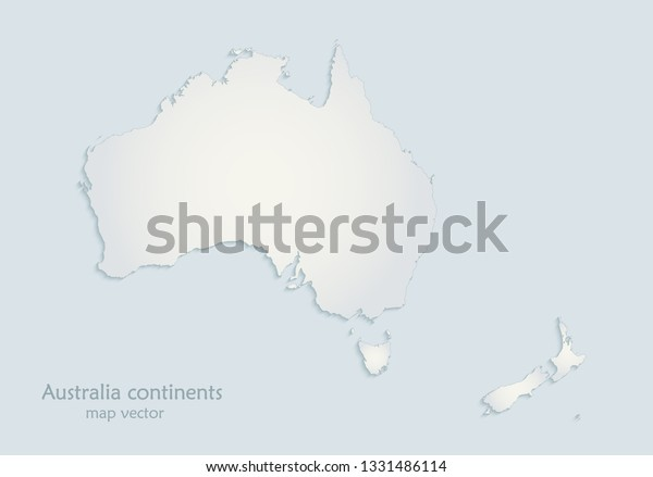 Australia To New Zealand Map.Australia New Zealand Map Blue White Stock Vector Royalty Free