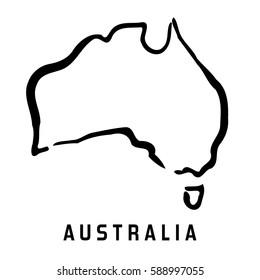 Simple Australia Map Outline.Outline Australia Images Stock Photos Vectors Shutterstock