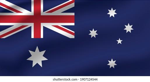 Australia waving flag vector editable