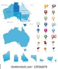 Australia Map Labeled.Australian Map Images Stock Photos Vectors Shutterstock