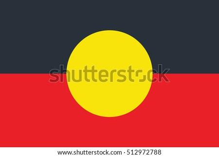 Australian Aboriginal Flag Stock Vector Royalty Free 512972788