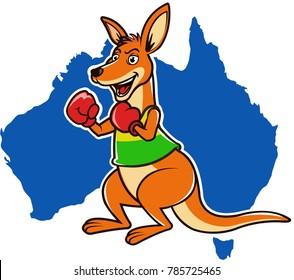 Australian Boxing Kangaroo