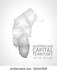 Australian Capital Territory polygonal mosaic vector triangle map
