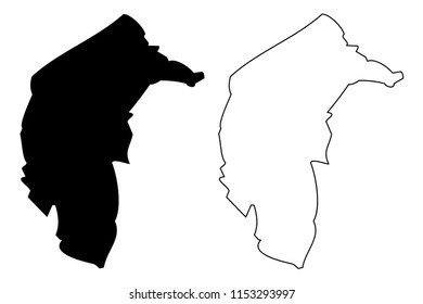 Australian Capital Territory (Australian states and territories, ACT, Federal Capital Territory) map vector illustration, scribble sketch Australian Capital Territory map
