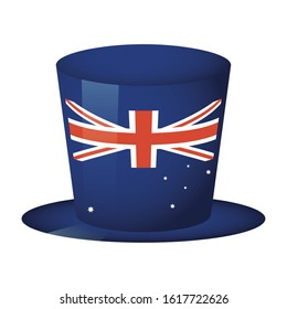 australian country flag in tophat vector illustration design