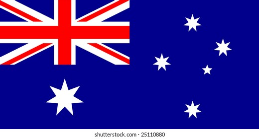 Australian flag with exact dimensions and colors