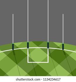 australian football goal post vector illustration