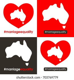 Australian marriage equality designs.