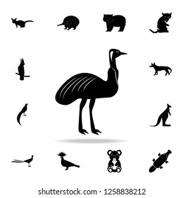 Australian ostrich icon. Detailed set of Australian animal silhouette icons. Premium graphic design. One of the collection icons for websites, web design, mobile app