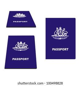 Australian Passport vector illustration
