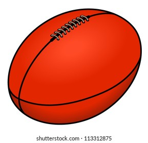 An Australian Rules football.