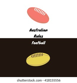 Australian rules football's - also called footy, or Aussie rules - ball icon for a day and a night games. Vector sport illustration.