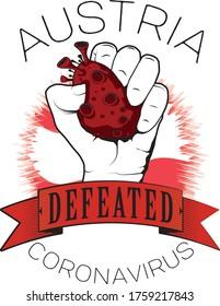austria europe defeated coronavirus vector cool image printable color flag