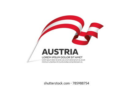 Austria flag on a white background