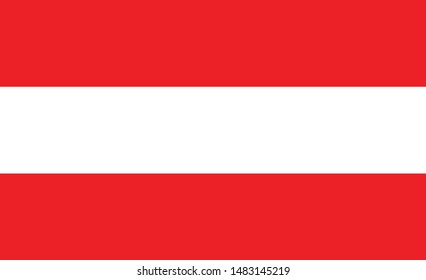 Austria flag. Simple vector. National flag of Austria